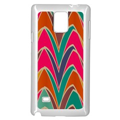 Bended Shapes In Retro Colorssamsung Galaxy Note 4 Case (white) by LalyLauraFLM
