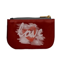 Cute Romantic Watercolor Heart Love Red By Lucy   Mini Coin Purse   Euem1qq6zt7a   Www Artscow Com Back