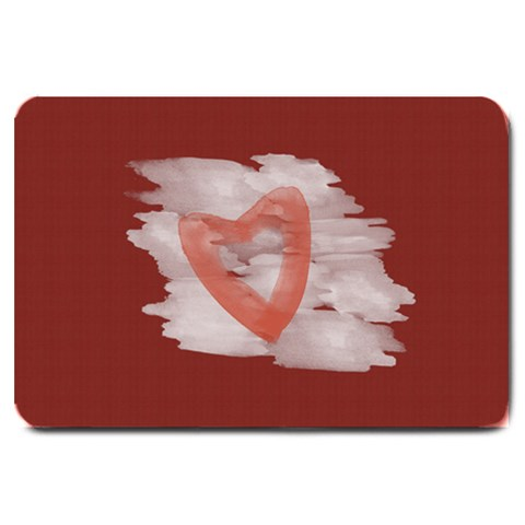 Bright Red Watercolor Heart By Lucy   Large Doormat   Y4dhuc9cnkpz   Www Artscow Com 30 x20 Door Mat - 1