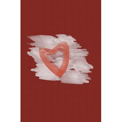 Bright Red Watercolor Heart Love By Lucy   5 5  X 8 5  Notebook   O5rxumpmae04   Www Artscow Com Back Cover
