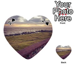 Playa Verde Coast In Montevideo Uruguay Playing Cards 54 (heart)