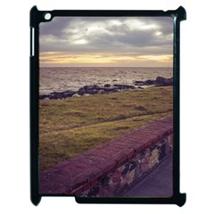 Playa Verde Coast In Montevideo Uruguay Apple iPad 2 Case (Black) by dflcprints