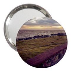 Playa Verde Coast In Montevideo Uruguay 3  Handbag Mirrors by dflcprints