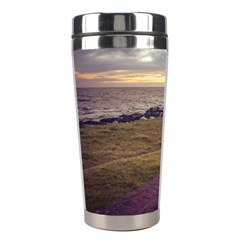 Playa Verde Coast In Montevideo Uruguay Stainless Steel Travel Tumblers by dflcprints