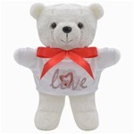 Cute Pastels Watercolor Heart Love Teddy Bear