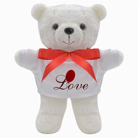 Bright Red Balloon Love Teddy Bear By Lucy   Teddy Bear   Keo5yugvx7oh   Www Artscow Com Front