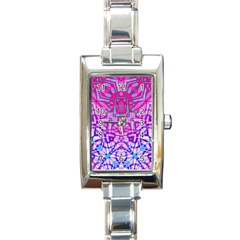 Ethnic Tribal Pattern G327 Rectangle Italian Charm Watches by MedusArt
