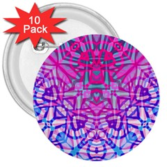 Ethnic Tribal Pattern G327 3  Buttons (10 Pack)  by MedusArt