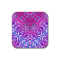 Ethnic Tribal Pattern G327 Rubber Coaster (square)  by MedusArt