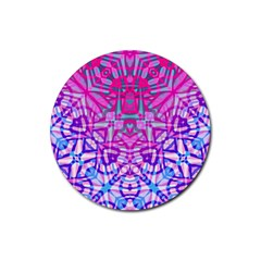 Ethnic Tribal Pattern G327 Rubber Round Coaster (4 Pack)  by MedusArt