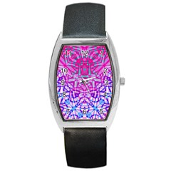 Ethnic Tribal Pattern G327 Barrel Metal Watches by MedusArt