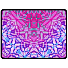 Ethnic Tribal Pattern G327 Fleece Blanket (large)  by MedusArt