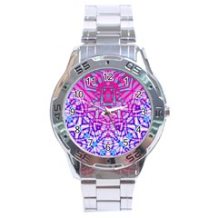 Ethnic Tribal Pattern G327 Stainless Steel Men s Watch by MedusArt