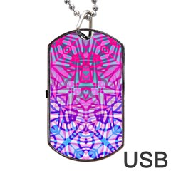Ethnic Tribal Pattern G327 Dog Tag Usb Flash (two Sides)  by MedusArt