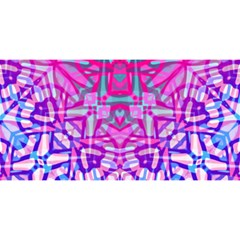 Ethnic Tribal Pattern G327 You Are Invited 3d Greeting Card (8x4)