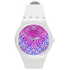 Ethnic Tribal Pattern G327 Round Plastic Sport Watch (m) by MedusArt