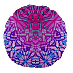 Ethnic Tribal Pattern G327 Large 18  Premium Round Cushions by MedusArt