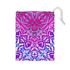 Ethnic Tribal Pattern G327 Drawstring Pouches (large)  by MedusArt