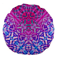 Ethnic Tribal Pattern G327 Large 18  Premium Flano Round Cushions by MedusArt