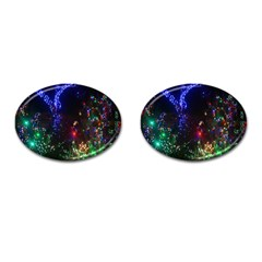 Christmas Lights 2 Cufflinks (oval) by trendistuff