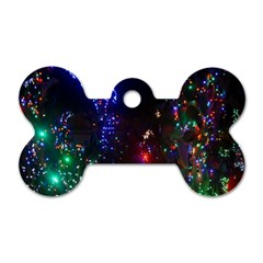 Christmas Lights 2 Dog Tag Bone (two Sides) by trendistuff