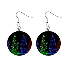 Christmas Lights 1 Mini Button Earrings by trendistuff