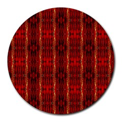 Red Gold, Old Oriental Pattern Round Mousepads by Costasonlineshop