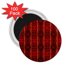 Red Gold, Old Oriental Pattern 2.25  Magnets (100 pack)  by Costasonlineshop