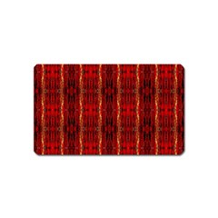 Red Gold, Old Oriental Pattern Magnet (name Card)