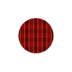 Red Gold, Old Oriental Pattern Golf Ball Marker