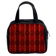 Red Gold, Old Oriental Pattern Classic Handbags (2 Sides)