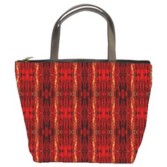 Red Gold, Old Oriental Pattern Bucket Bags