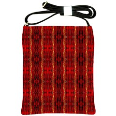 Red Gold, Old Oriental Pattern Shoulder Sling Bags