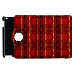 Red Gold, Old Oriental Pattern Apple iPad 3/4 Flip 360 Case by Costasonlineshop