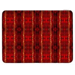 Red Gold, Old Oriental Pattern Samsung Galaxy Tab 7  P1000 Flip Case by Costasonlineshop