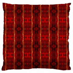 Red Gold, Old Oriental Pattern Large Flano Cushion Cases (two Sides)