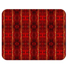 Red Gold, Old Oriental Pattern Double Sided Flano Blanket (medium)  by Costasonlineshop