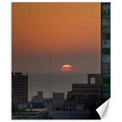 Aerial View Of Sunset At The River In Montevideo Uruguay Canvas 8  X 10  by dflcprints