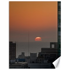 Aerial View Of Sunset At The River In Montevideo Uruguay Canvas 18  X 24   by dflcprints