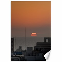 Aerial View Of Sunset At The River In Montevideo Uruguay Canvas 24  X 36  by dflcprints