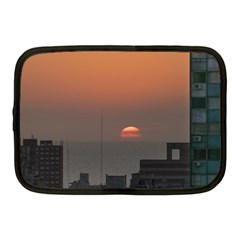 Aerial View Of Sunset At The River In Montevideo Uruguay Netbook Case (medium)  by dflcprints