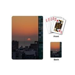 Aerial View Of Sunset At The River In Montevideo Uruguay Playing Cards (mini)  by dflcprints