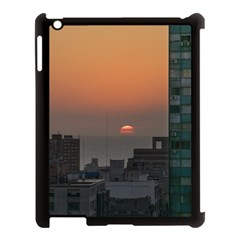 Aerial View Of Sunset At The River In Montevideo Uruguay Apple Ipad 3/4 Case (black) by dflcprints