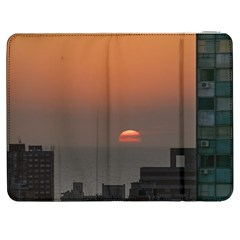 Aerial View Of Sunset At The River In Montevideo Uruguay Samsung Galaxy Tab 7  P1000 Flip Case by dflcprints