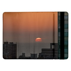 Aerial View Of Sunset At The River In Montevideo Uruguay Samsung Galaxy Tab Pro 12 2  Flip Case by dflcprints