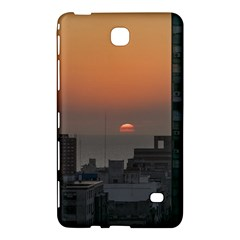 Aerial View Of Sunset At The River In Montevideo Uruguay Samsung Galaxy Tab 4 (7 ) Hardshell Case  by dflcprints