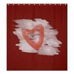 Bright Red Watercolor Heart - Shower Curtain 66  x 72  (Large)