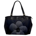 Pretty Grey Black Sheer Flower Gardener Florist - Oversize Office Handbag