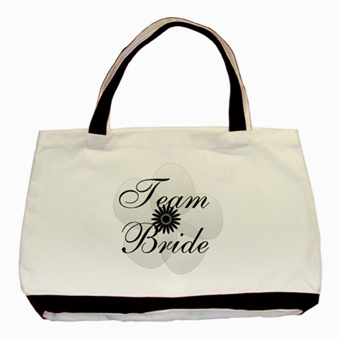 White Sheer Flower Team Bride By Lucy   Basic Tote Bag   T70n04ur2fzv   Www Artscow Com Front