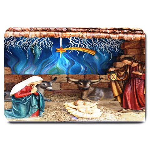 Christ Nativity Scene Matching  Doormat Template s Product By Pamela Sue Goforth   Large Doormat   Vm5oeiddg1s0   Www Artscow Com 30 x20 Door Mat - 1